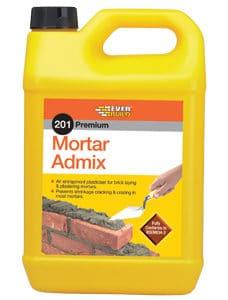 EverBuild 5lt Mortar Admix, Plasticiser, Cement additive, Cheap London, Manchester, Birmingham, Bristol, Scotland, Wales